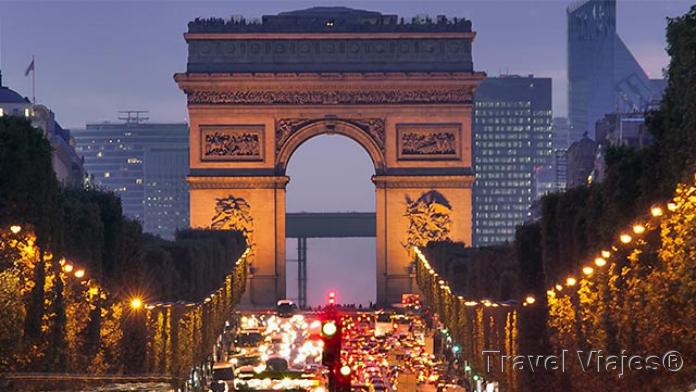 El Arco del Triunfo París Francia