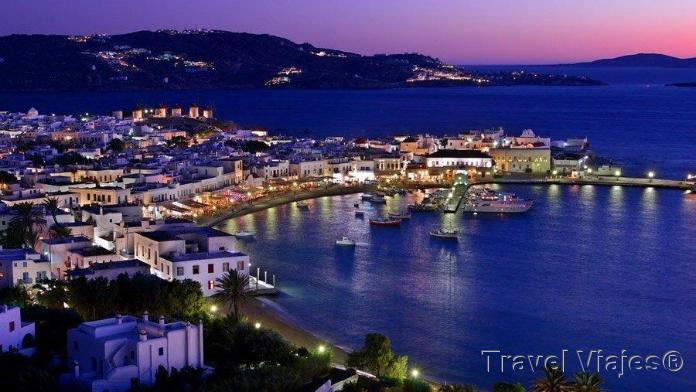 Mykonos de Noche Grecia