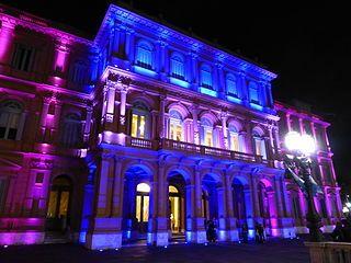Argentina Buenos Aires Frente De Casa Rosada Sobre Rivadavia