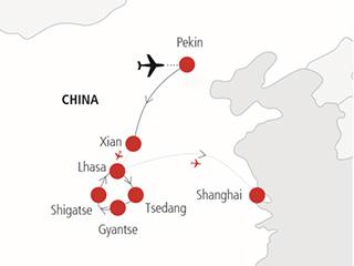 China Mapa China Y Tibet
