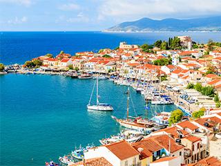 Grecia Isla De Samos Vista Panoramica