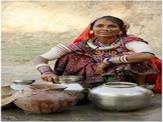 India Rajasthan Village Woman