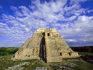 Mexico Uxmal Piramide Del Adivino