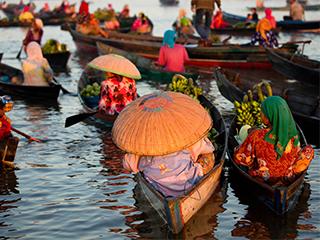 Tailandia Bangkok Mercado Flotante