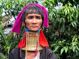 Tailandia Chiang Mai Mujer Jirafa